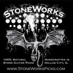 Get Your Tone from Stone! StoneWorks Guitar Picks.