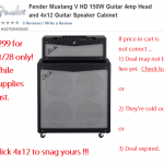 Fender 4x12 Half Stack for $299 - TTK Killer Deal Alert