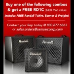Get a Free RD1C Combo Amplifier From Randall