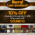 Killer Deal!  Amplified Parts - 10% Off through July 31st.